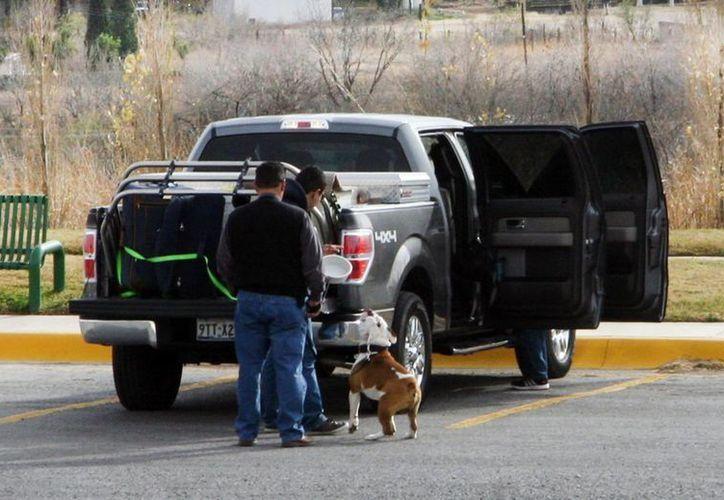 Cientos de paisanos cruzan la frontera para llegar a sus lugares de origen en México. (Notimex)