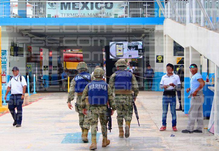Luego del siniestro, ha incrementado la presencia de personal de seguridad. (Daniel Pacheco/SIPSE)