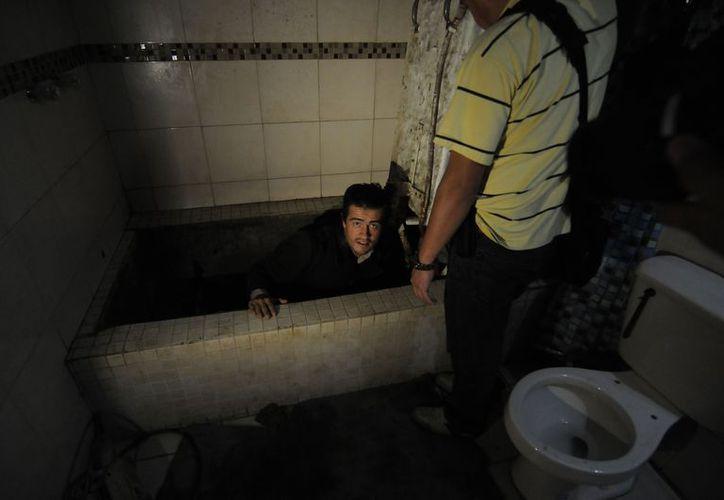 El Ejército localizó un narco túnel de 135 metros de longitud, en la zona Centro de Tecate, Baja California. (Notimex)