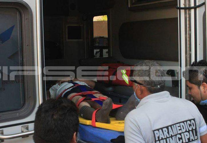 El herido fue trasladado de gravedad a un hospital de Mérida. (A. Uicab/ SIPSE)