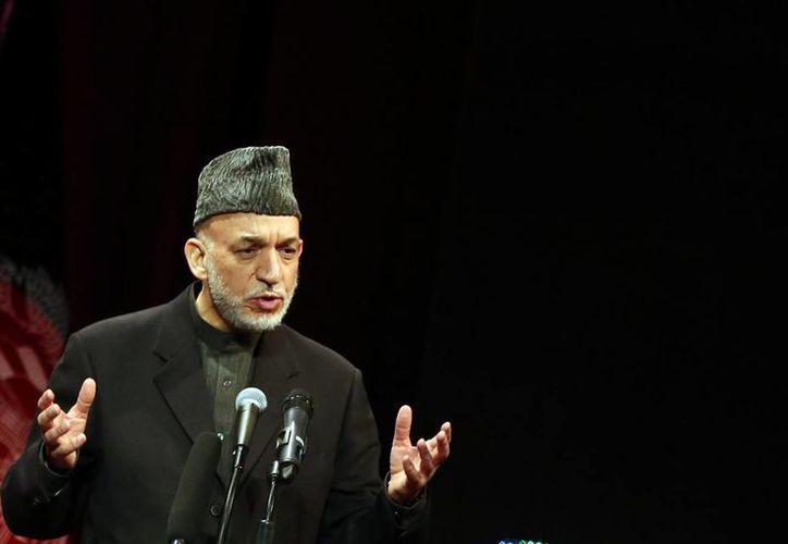 El presidente afgano Hamid Karzai está al frente de un gobierno con 30 años de guerras y conflictos.(Agencias)