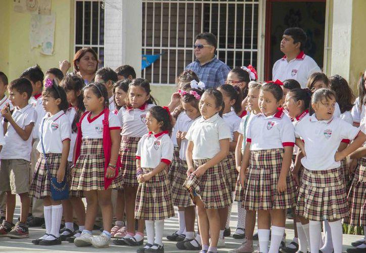 Retornan a las escuelas después del período vacacional de Semana Santa. (Cortesía)