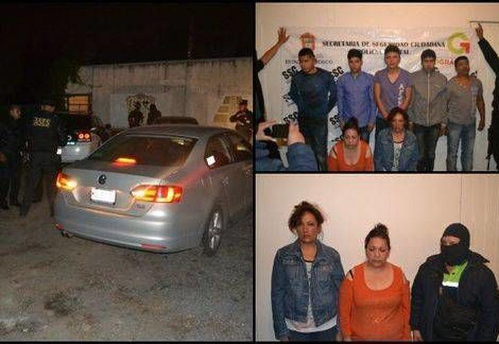 Trece personas fueron detenidas en las inmediaciones de una casa ubicada en la colonia Ejidos de San Cristobal por su presunta responsabilidad en el secuestro de una menor. (Milenio digital)