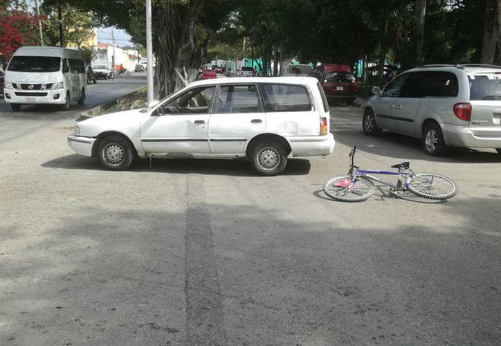 El accidente ocurrió cerca de las 14 horas de ayer. (Redacción/SIPSE)