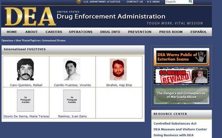 La fotografía de El Chapo Guzmán ya no aparece en la DEA. (Captura de pantalla)
