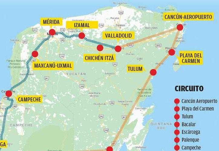 Circuito Yucatan : Proponen circuito para el tren maya con destinos de