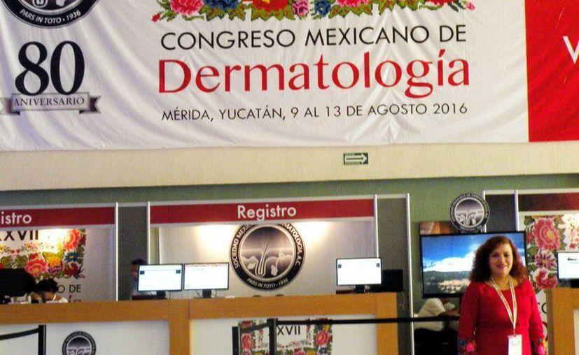 La doctora Aurora Elizondo Rodríguez, presidenta de la Sociedad Mexicana de Dermatología. (Milenio Novedades)