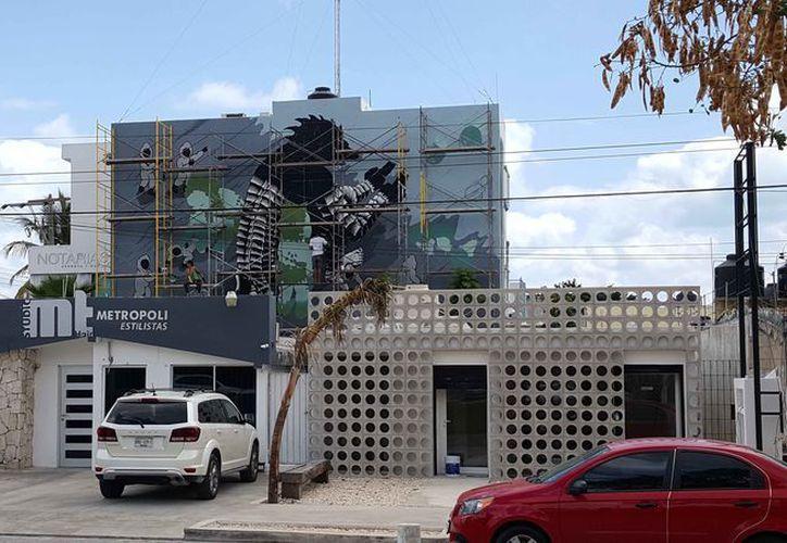 El mural de 10x13 metros, se ubica en la calle de Palenque #30. (Jocelyn Díaz/SIPSE)
