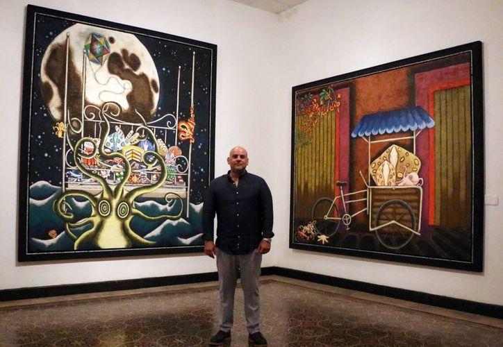 Carlos Jorge Macari invita a disfrutar la muestra con la mente abierta. (José Acosta/Milenio Novedades)