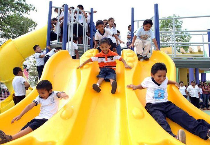 Los niños tendrán un lugar de esparcimiento adecuado en este municipio. (Cortesía/SIPSE)