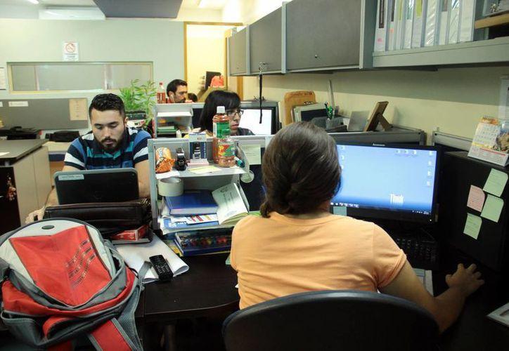 Cada vez más empresas solicitan personal que tenga conocimientos del inglés u otro idioma extranjero. Imagen de una oficina en Mérida. (Jorge Acosta/SIPSE)