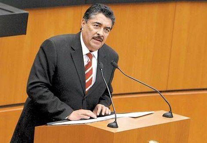 Ramiro Hernández, presidente municipal de Guadalajara, durante su participación en el análisis. (Jorge Carballo/Milenio)