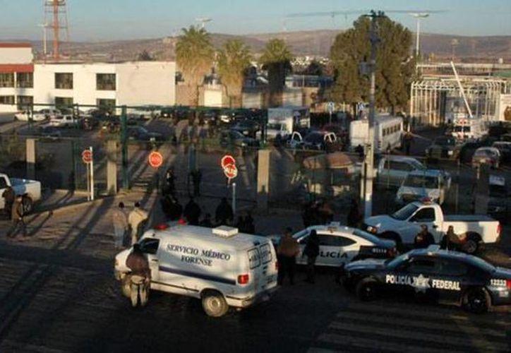 Las autoridades tuvieron el apoyo de la policía estatal, Marina y Ejército para poder controlar la riña. (excelsior.com.mx)