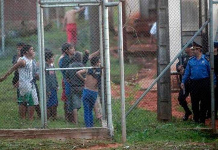 El Centro Educativo de Itauguá, una cárcel para menores de edad, registró su segundo motín del año y nuevamente hubo saldo rojo; esta vez, fueron 2 muertos. (Cristóbal Núñez/La Nación)