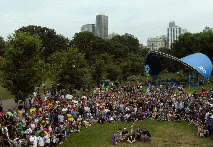 Fans de Pokémon GO provenientes de diversas regiones pudieron disfrutar el festival. (Twitter)