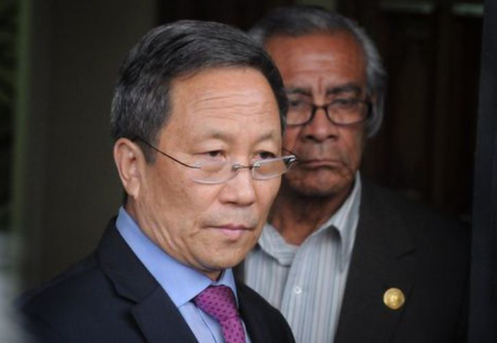 El embajador de Corea del Norte, Kim Hyong Gil. (Milenio)