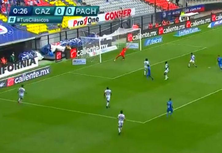 Bacca coronó con su gol una gran jugada colectiva de la Máquina en el amanecer del duelo (Captura de pantalla)