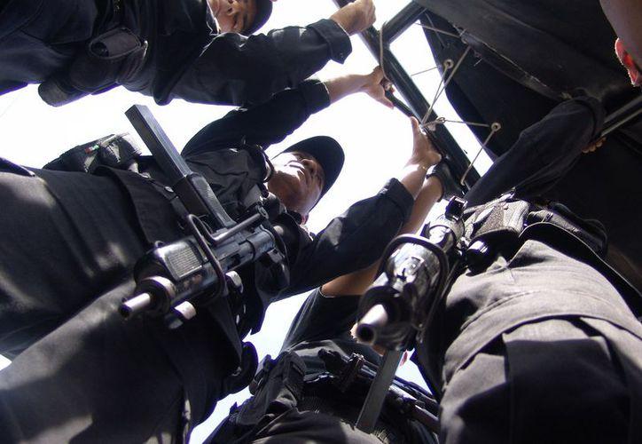 Se celebró la participación de las fuerzas federales en las tareas de seguridad en la isla para disminuir los índices delictivos. (Foto: Gustavo Villegas/SIPSE)