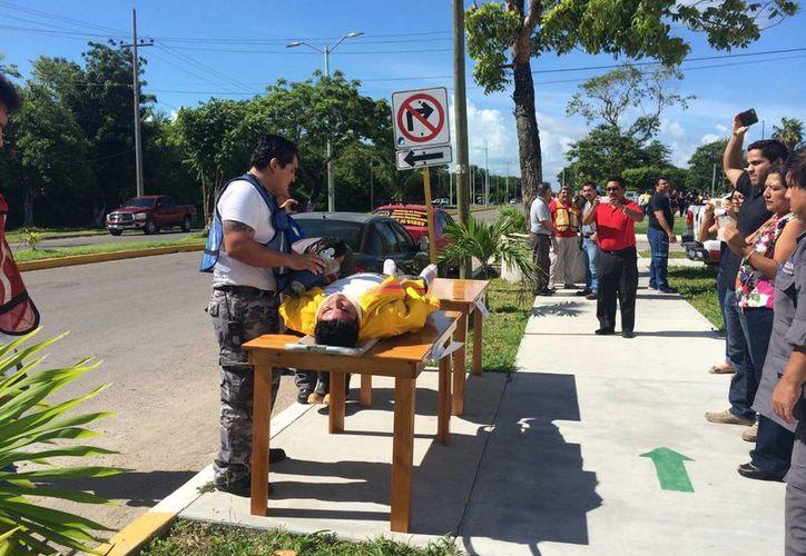 En la capital de Estado se realizaron 21 simulacros por el Día Nacional de Protección Civil. (Harold Alococer/SIPSE)