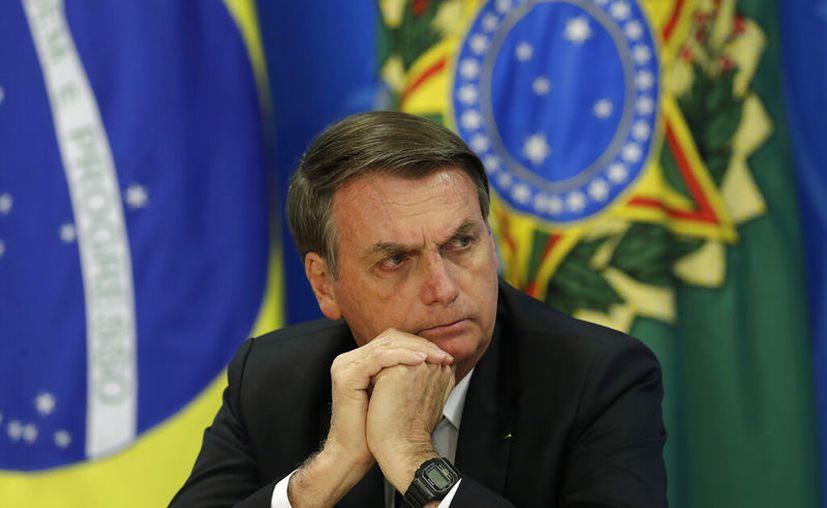 El mandatario señaló que seguirá a poyando a Macri hasta el final. (Eraldo Peres/ AP)