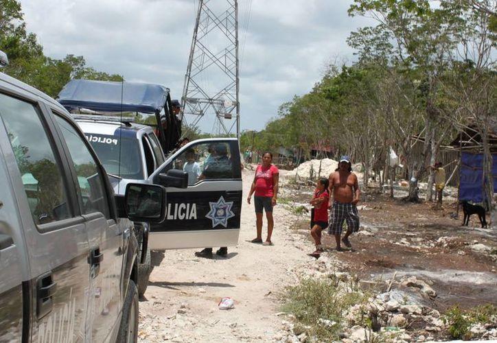 La Policía Municipal continúa realizando rondines para contener la tensión. (Adrián Barreto/SIPSE)