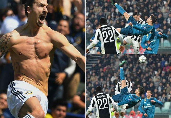 Ibrahimovic habría retado a Cristiano Ronaldo. (AFP)