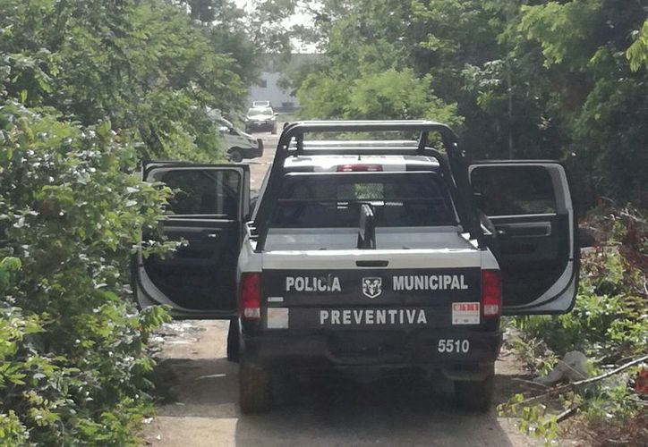 El cuerpo de una mujer fue hallado sin vida y con las manos atadas en un camino de terracería de la Supermanzana 106, de Cancún. (Eric Galindo/SIPSE)