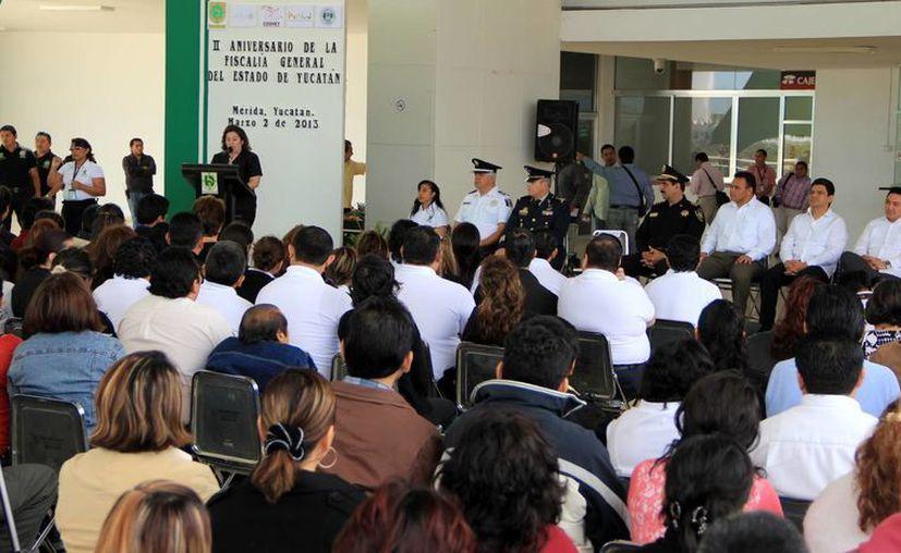 La fiscal Celia Rivas resaltó el nivel académico de las personas que serán adiestradas (José Acosta/SIPSE)