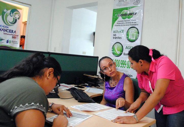 La Condusef registró el mes pasado un aumento en lo que se refiere a quejas de los yucatecos en comparación con enero de 2017, de 100 quejas a 122. (SIPSE)