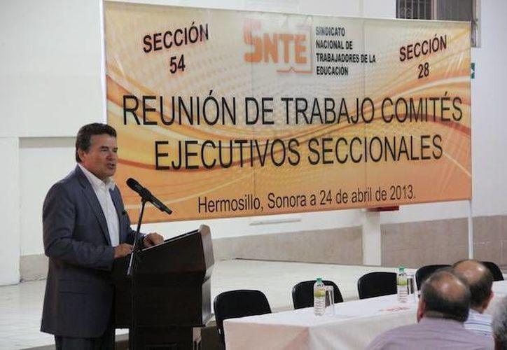 Díaz de la Torre señaló que las reformas son una vieja demanda del SNTE. (snte.org.mx)