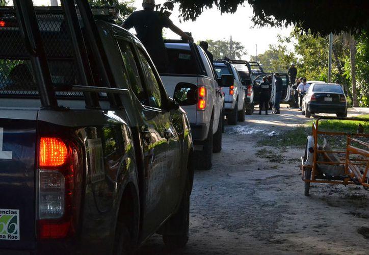 Solo existe una caseta de la Policía Rural, con al menos cuatro elementos. (Foto: Redacción/SIPSE)