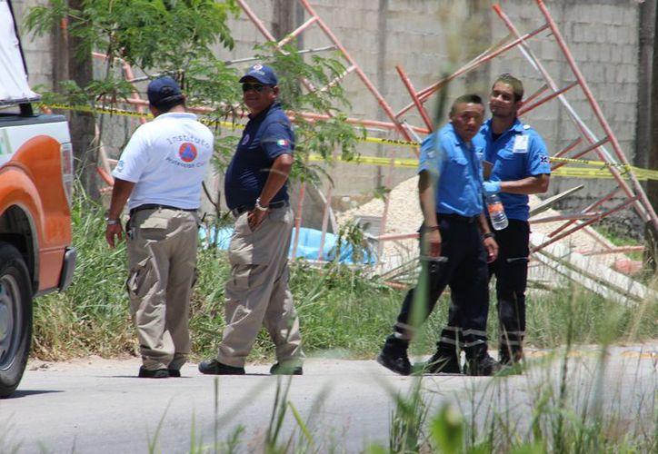 Albañil muere en cárcel municipal por descarga eléctrica y caer de ocho metros de altura. (Foto: SIPSE)