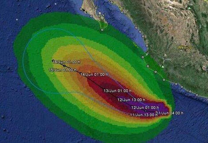 El fenómeno se localiza al suroeste del estado de Michoacán, sin que represente amenaza alguna. (Milenio)