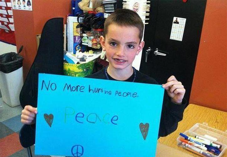 La imagen de Martin fue tomada cuando cursaba el segundo grado. (Agencias)