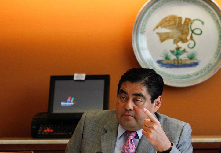 Miguel Barbosa, coordinador de   los senadores del PRD. (Notimex)