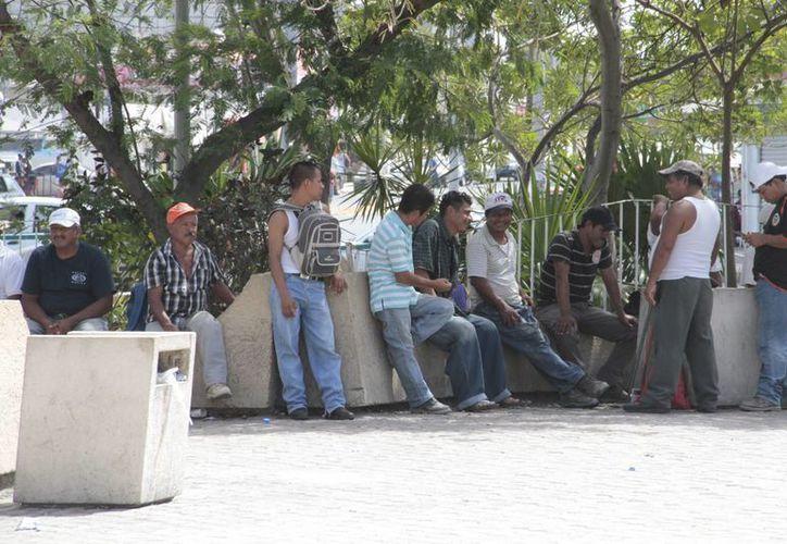Un porcentaje de trabajadores de la construcción está desocupado. (Tomás Álvarez/SIPSE)