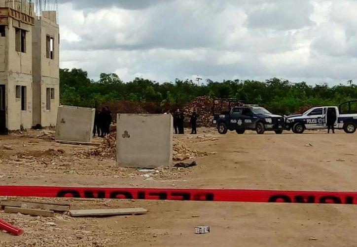 El ataque se registró en una obra en construcción, en la Región 249. (Redacción/SIPSE)