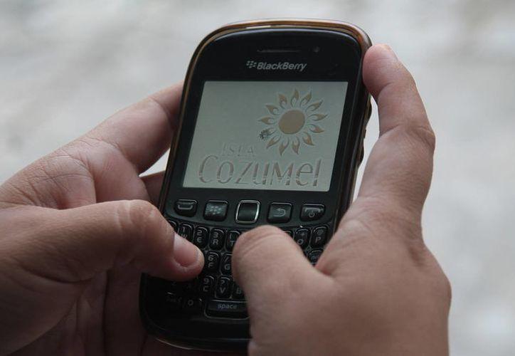 Solamente se pudo concretar la aplicación para BlackBerry. (Julián Miranda/SIPSE)