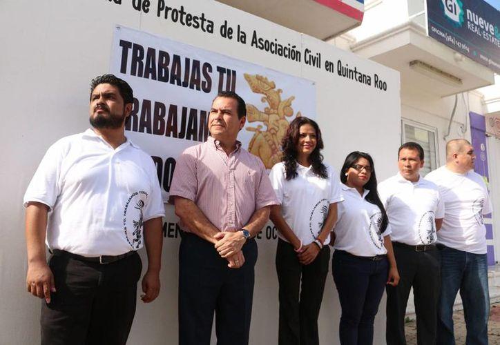 Ayer se instaló la mesa directiva de la organización Trabajas tú, trabajamos todos A.C. (Adrián Barreto/SIPSE)