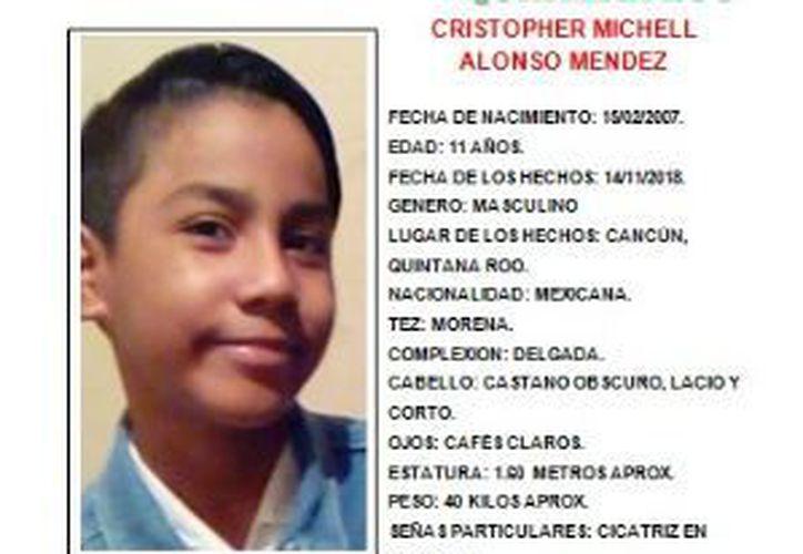 El niño de 11 años fue visto por última vez en la ciudad de Cancún. (Redacción)