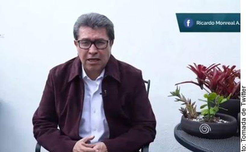 El coordinador morenista en la Cámara alta, Ricardo Monreal. (Agencia Reforma)
