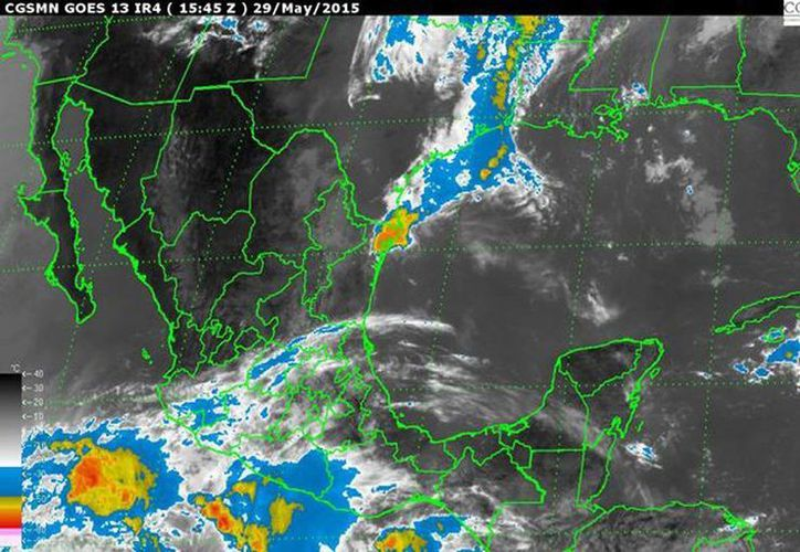 'Andrés' registra vientos de hasta 110 km/h y según los pronósticos se podrá convertir en huracán en las próximas horas. (smn.conagua.gob.mx)