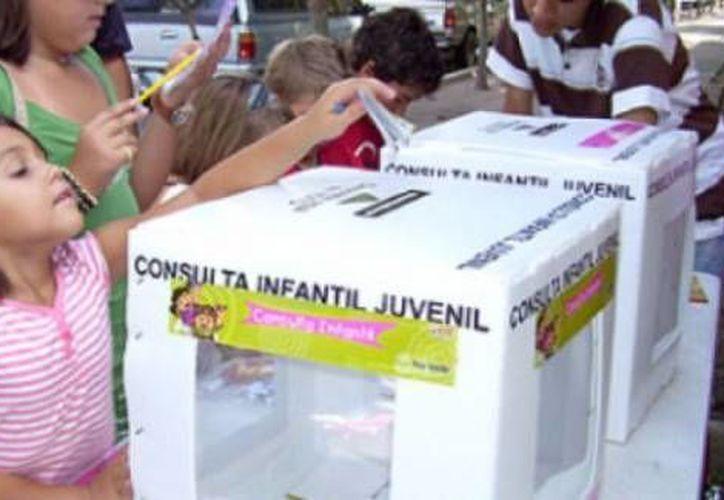Los niños y jóvenes podrán participar en la Consulta infantil y juvenil el 7 de junio. (Archivo/SIPSE)