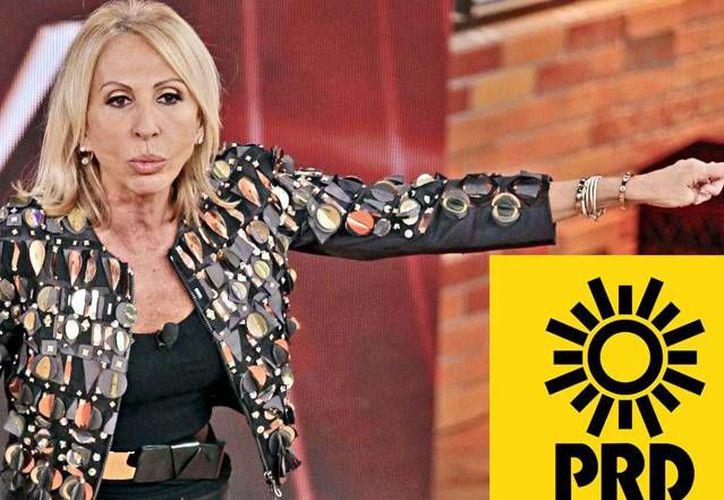 """El Partido Revolución Democrática presentó una queja ante el INE contra Televisa y el programa """"Laura"""" por las opiniones emitidas por su conductora con respecto a dicha fuerza política. (Archivo/ referente.mx y Twitter: @PRD_México"""