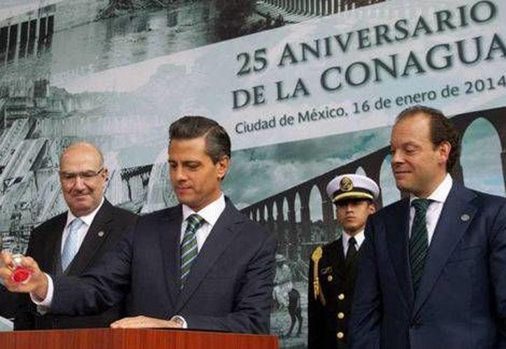El anuncio de la creación de la Agencia Natural de Huracanes fue en el marco del  el 25 aniversario de la conformación de la Conagua. (presidencia.gob.mx)