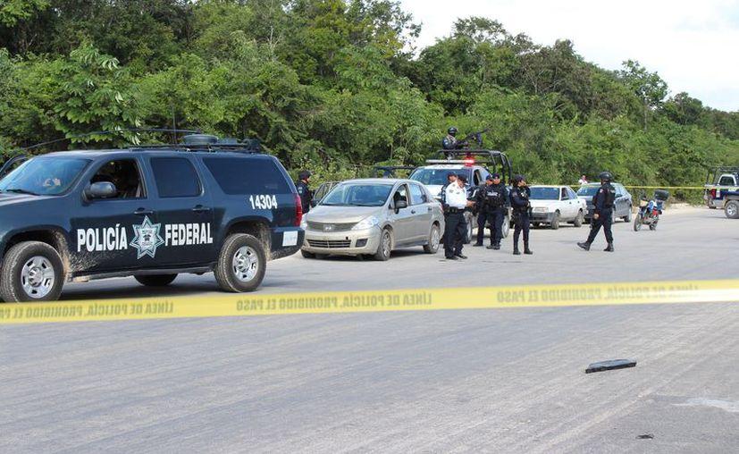La policía local no detuvo a los presuntos ladrones a pesar de un fuerte operativo. (Adrián Barreto/SIPSE)