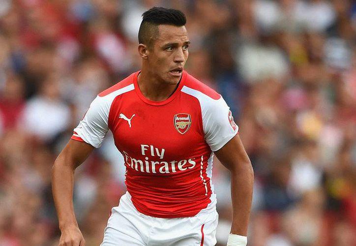 'Llegué a una liga que me encanta, mi club es fantástico, con muy buenos compañeros', declaró el chileno Alexis Sánchez sobre el Arsenal. (football365.com)
