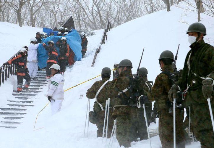 Bomberos fueron a rescatar a sobrevivientes (AFP)