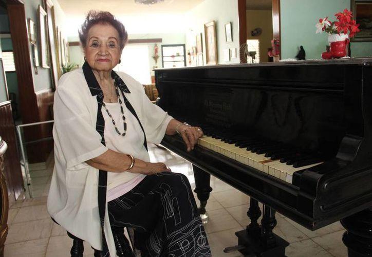 """""""Mi vocación la traje, Dios me la dio"""", afirmó la compositora y pianista Judith Pérez Romero. (Milenio Novedades)"""