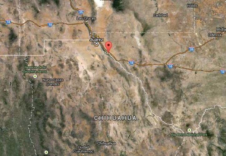 Son varias las balaceras que se han dado en el poblado chihuahuense de Práxedis G. Guerrero, fronterizo con Texas. (Google Maps)